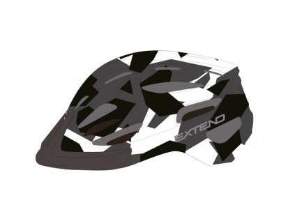 Přilba Extend COURAGE, S/M (51-55cm), camouflage black