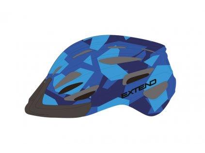 Přilba Extend COURAGE, S/M (51-55cm), camouflage blue