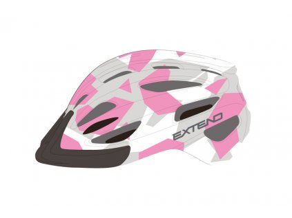 Přilba Extend COURAGE, S/M (51-55cm), camouflage pink