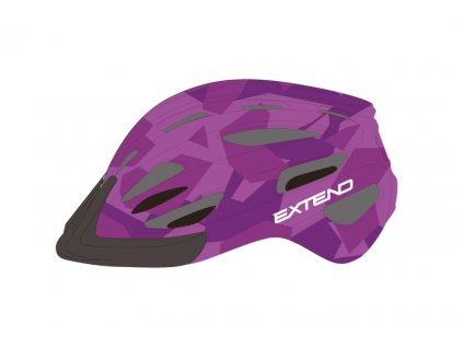 Přilba Extend COURAGE, S/M (51-55cm), camouflage purple