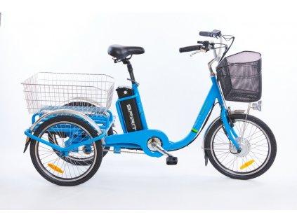 """Elektrokolo Spirit SHOPPING3, tříkolka, kola 20"""", modrá /250W, 36V"""