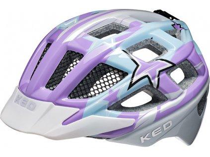 přilba KED Kailu M Purple Lightblue Stars 53-59 cm