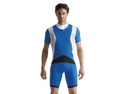 Cyklistický dres pánsky GIESSEGI Prow bielo/modrý L