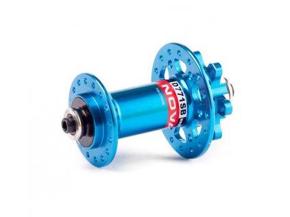 Náboj Novatec D771SB + redukce 15mm, přední, 32-děrový, modrý