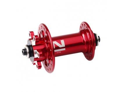 Náboj Novatec D771SB + redukce 15mm, přední, 32-děrový, červený (N-logo)