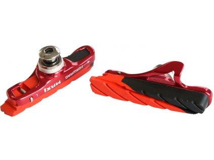 brzdová botka silniční MAX1 Race 55 mm výměnná červený elox