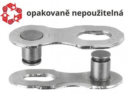 spojka řetězu KMC Missing Link 11 speed EPT povrch, šedý, balení 2ks, cena za balení
