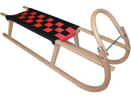 Dřevěné saně SULOV TATRA, 105cm, černo-červené