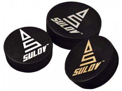 Hokejový puk SULOV SENIOR, zlatý potisk