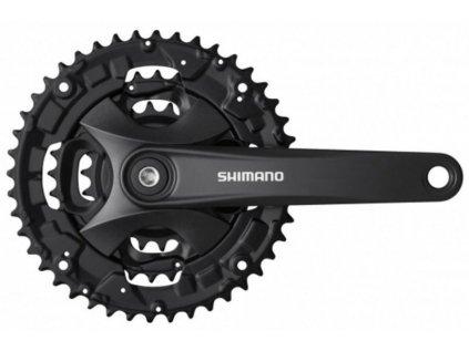 kliky SHIMANO FC-MT101-L 175mm 44x32x22, černé, bez krytu, 9 speed, pro osu čtyřhran