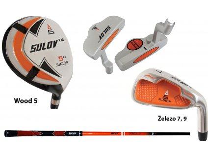 Set SULOV KIDS 6-8 Grafit Orange