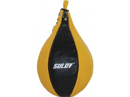 Box hruška SULOV Split-štípaná kůže, žluto-černá