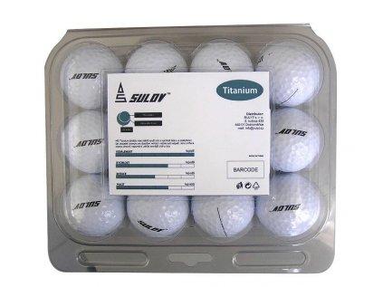Sada golfových míčků SULOV TITANIUM, 12ks, blister