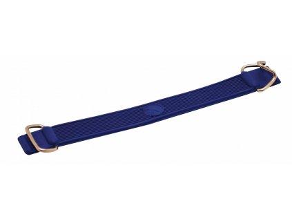 Pásek na lyže gumový s kovovými háčky, modrý