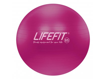 Gymnastický míč LIFEFIT ANTI-BURST 85 cm, bordó