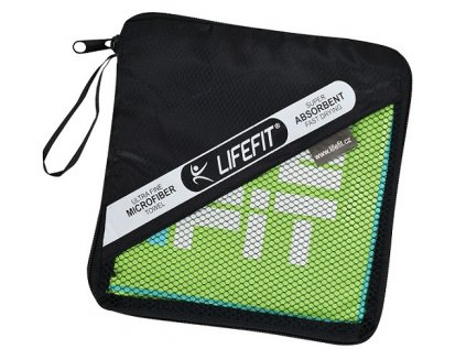LIFEFIT rychleschnoucí ručník z mikrovlákna 105x175cm, zelený
