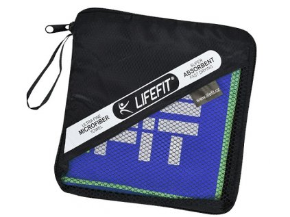 LIFEFIT rychleschnoucí ručník z mikrovlákna 105x175cm, tmavě modrý