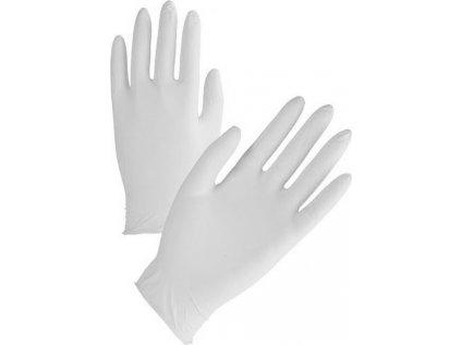 servisní nitrilové rukavice bílé nepudrované vel.XL balení 100ks