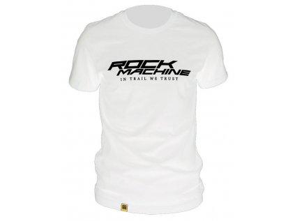 tričko ROCK MACHINE unisex bílé vel. XXL logo IN TRAIL WE TRUST
