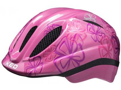 přilba KED Meggy Trend S pink flower 46-51 cm