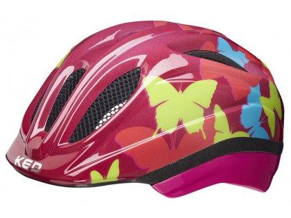 přilba KED Meggy Trend XS butterfly bordeaux 44-49 cm