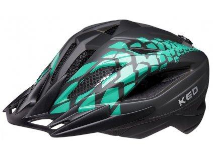 přilba KED Street Junior Pro S black green matt 49-55 cm