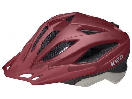 přilba KED Street Junior Pro S merlot ash matt 49-55 cm