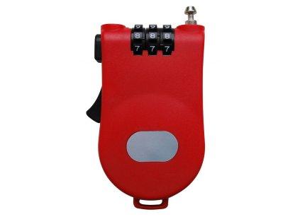 Zámek LIFEFIT MULTI 100x1,6mm, červený