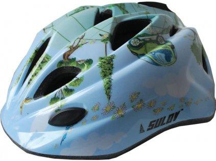 Dětská cyklo helma SULOV GUAR, modrá
