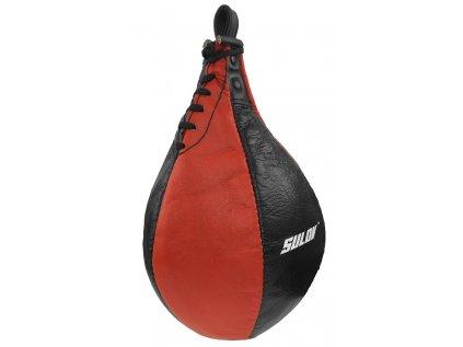 Boxovací hruška SPLIT SULOV, štípaná kůže černo-červená