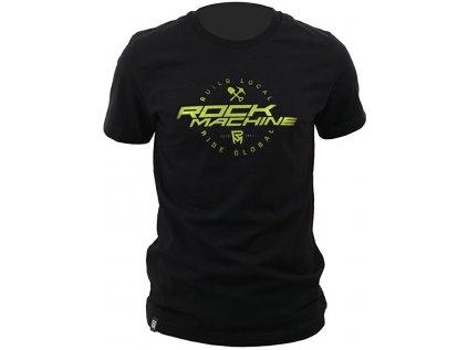 tričko ROCK MACHINE unisex černé vel. XXL logo BUILD LOCAL