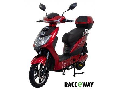 Elektroskútr RACCEWAY E-FICHTL, červený-lesklý s baterií 12Ah