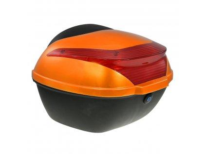 Zadní kufr k elektroskútru RACCEWAY E-BABETA, oranžový lesk
