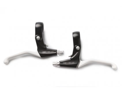 Brzdové páčky AL 3-prsté černo-bílé EXTEND