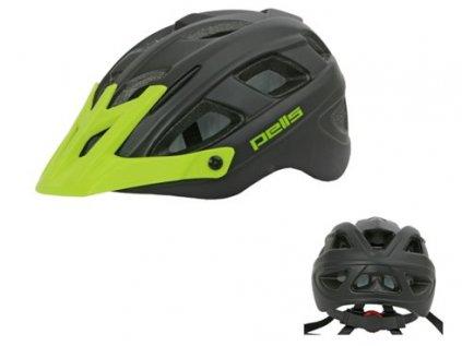 Dětská helma PELLS Wasp Black/Green - S (53-55cm)