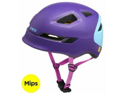 přilba KED Pop Mips M purple skyblue 52-56 cm