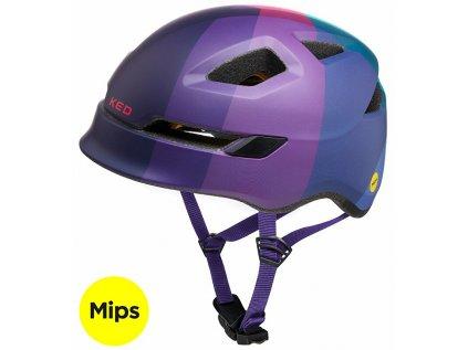 přilba KED Pop Mips M lilac green 52-56 cm