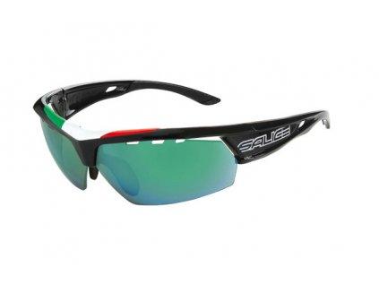 brýle SALICE 005ITA black/RW green/transparent