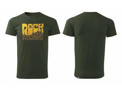 tričko ROCK MACHINE Wave olivově zelené