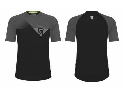dres ROCK MACHINE Enduro temně černý/šedý
