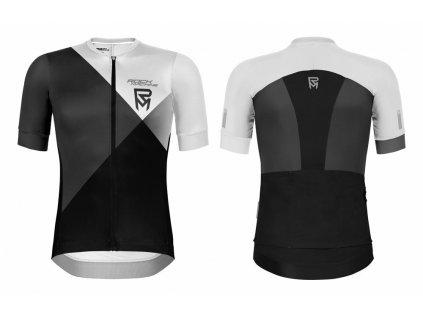 dres ROCK MACHINE MTB/XC bílo/černý