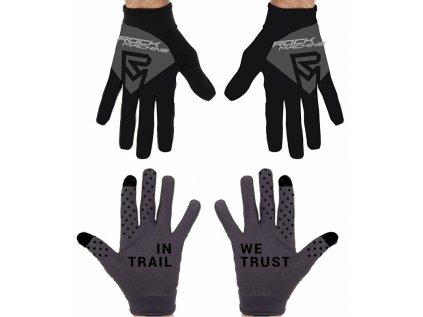 dlouhoprsté rukavice ROCK MACHINE Race černo/šedé