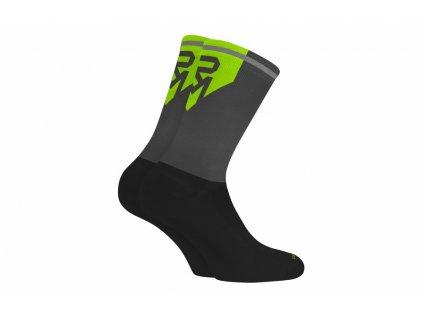 ponožky ROCK MACHINE Long černo/šedo/zelené