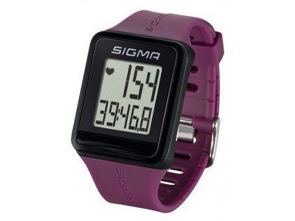 pulsmetr SIGMA ID.Go fialový plum