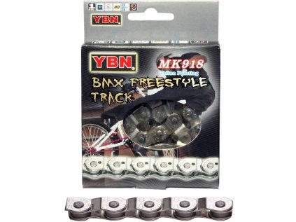 řetěz MAX1 BMX 1 speed, 110L, stříbrný, se spojkou