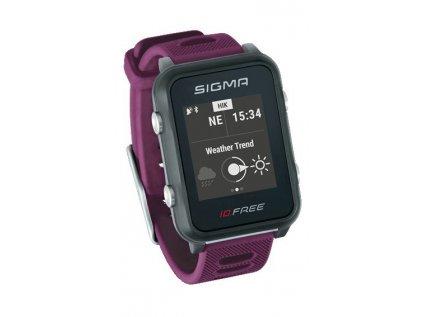 chytré hodinky SIGMA iD.FREE fialové
