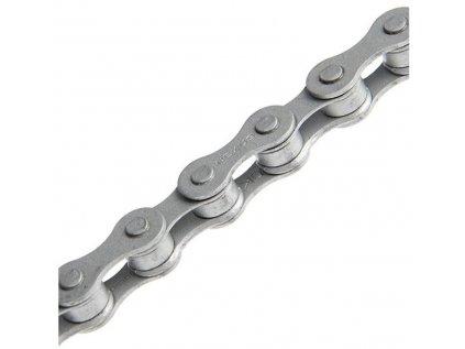 """řetěz SHIMANO CN-NX10 114 čl. stříbrný 1/2""""x1/8"""" 1-3 speed v krabičce"""