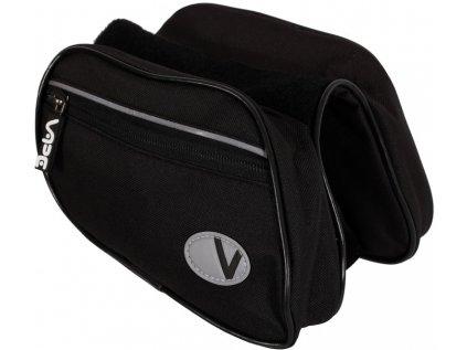 brašna VAPE 2-brašnička přední černá/černý zip