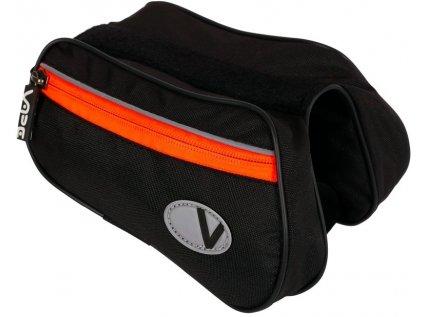 brašna VAPE 2-brašnička přední černá/fluo oranžový zip