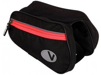 brašna VAPE 2-brašnička přední černá/červený zip